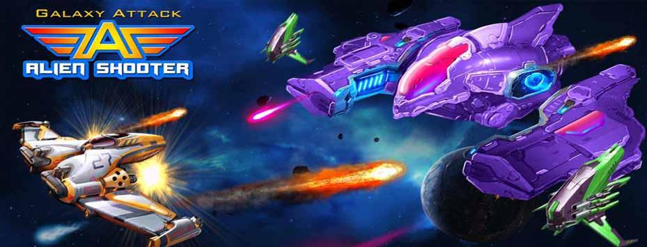 دانلود بازی Galaxy Attack: Alien Shooter اندروید با پول بی نهایت