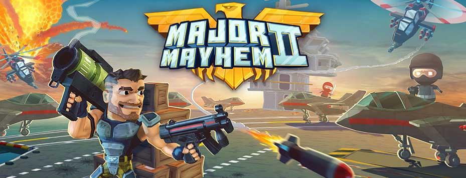دانلود بازی اکشن تیراندازی Major Mayhem اندروید با پول بی نهایت
